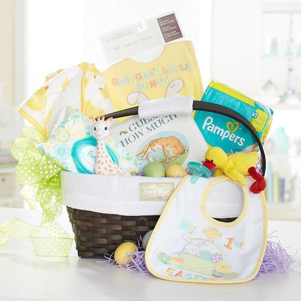Celebrating babys first easter at babiesrus modern day moms duck easter basket neutraleasterbasket negle Images