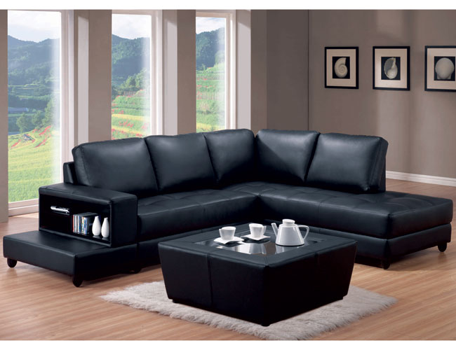 Decorating Around a Black Leather Accent Chair  Modern Design Accents