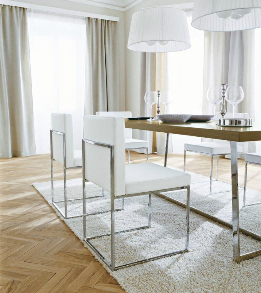 The Most Sophisticated White Leather Dining Chairs