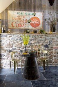 Striking Dining Rooms with Stone Walls
