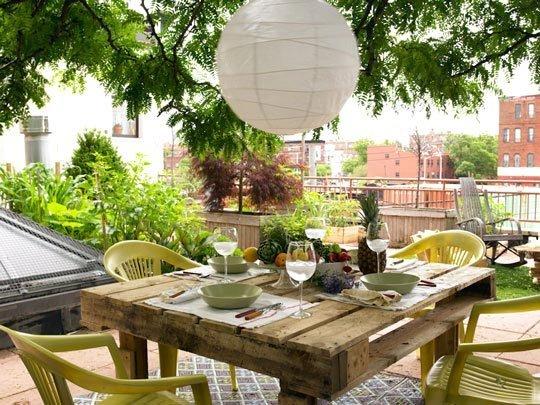 fabriquer une table avec des palettes 45 idees et conseils