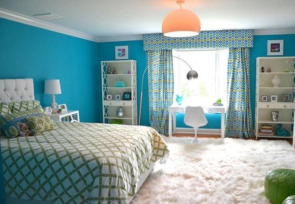 chambre turquoise 35 modeles sobres et elegants