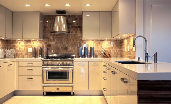 Lclairage sous les meubles de cuisine  style et fonctionnalit  Moderne House  1001 photos
