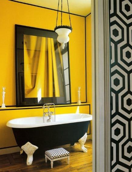salle de bains jaune 64 idees qui