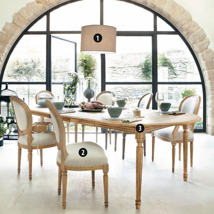 la salle a manger atelier retour au style classique chez maisons du monde