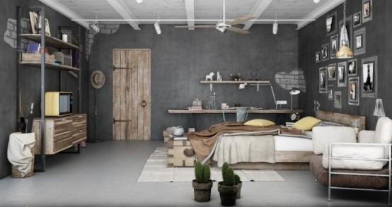 Chambre de style industriel 28 ides pour une chambre chic et urbaine