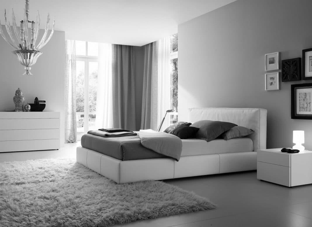 chambre grise et blanche 19 idees zen et modernes pour se demarquer
