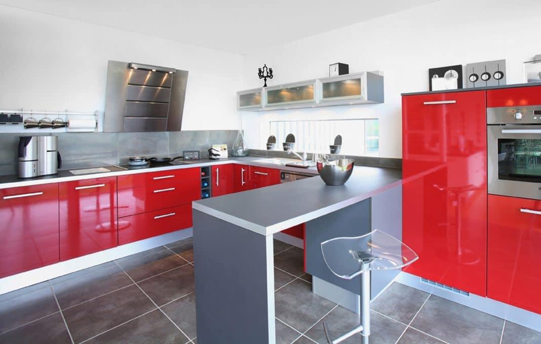 cuisine rouge et grise 35 photos la