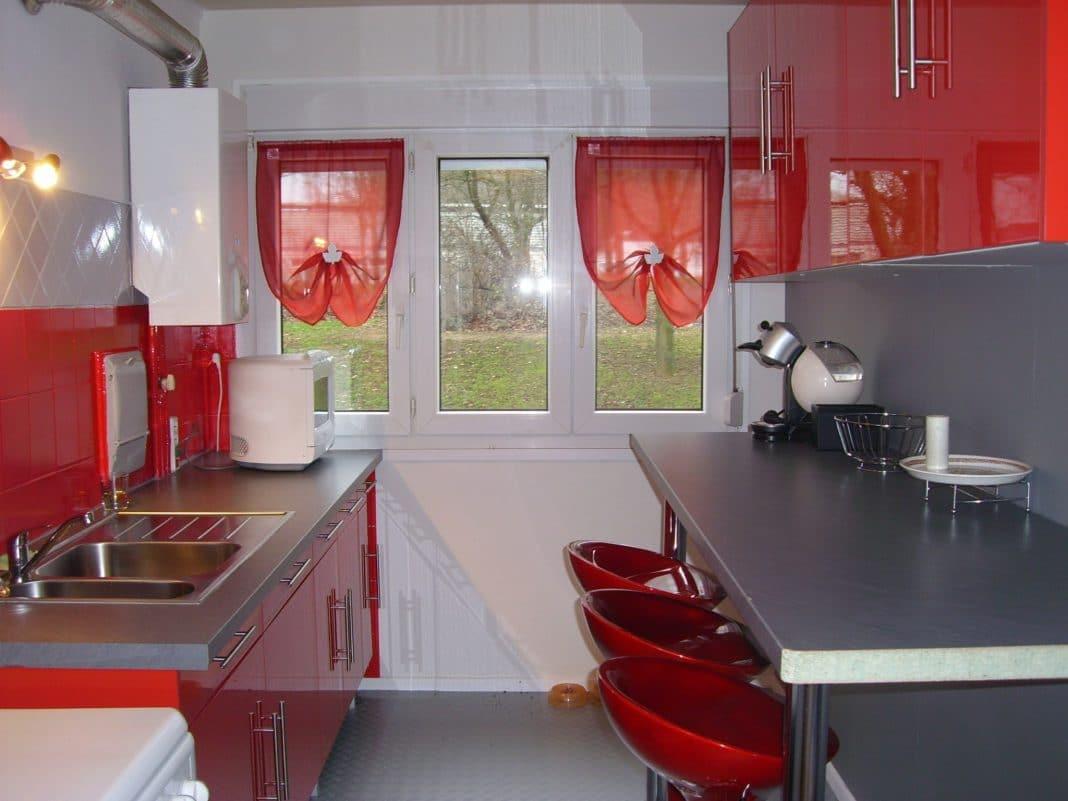 Cuisine rouge et grise 35 photos la cuisine tendance et moderne par excellence