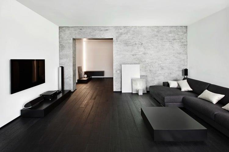 un salon blanc et noir 32 manieres