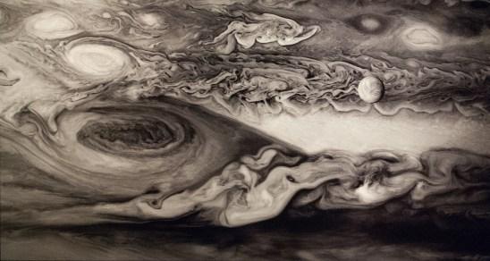 Europa passing Jupiter's Red Spot