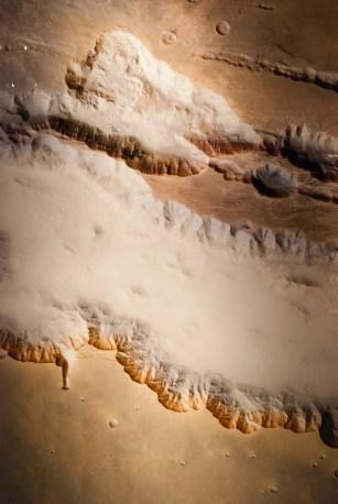 Ground fog in Valles Marineris