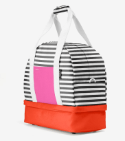 Side view of Kate Spade Saturday's Weekender bag