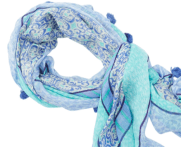 2 - Sea Flower Print Scarf