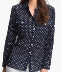 2 - Bellefleur Roll Sleeve Dot Shirt $69