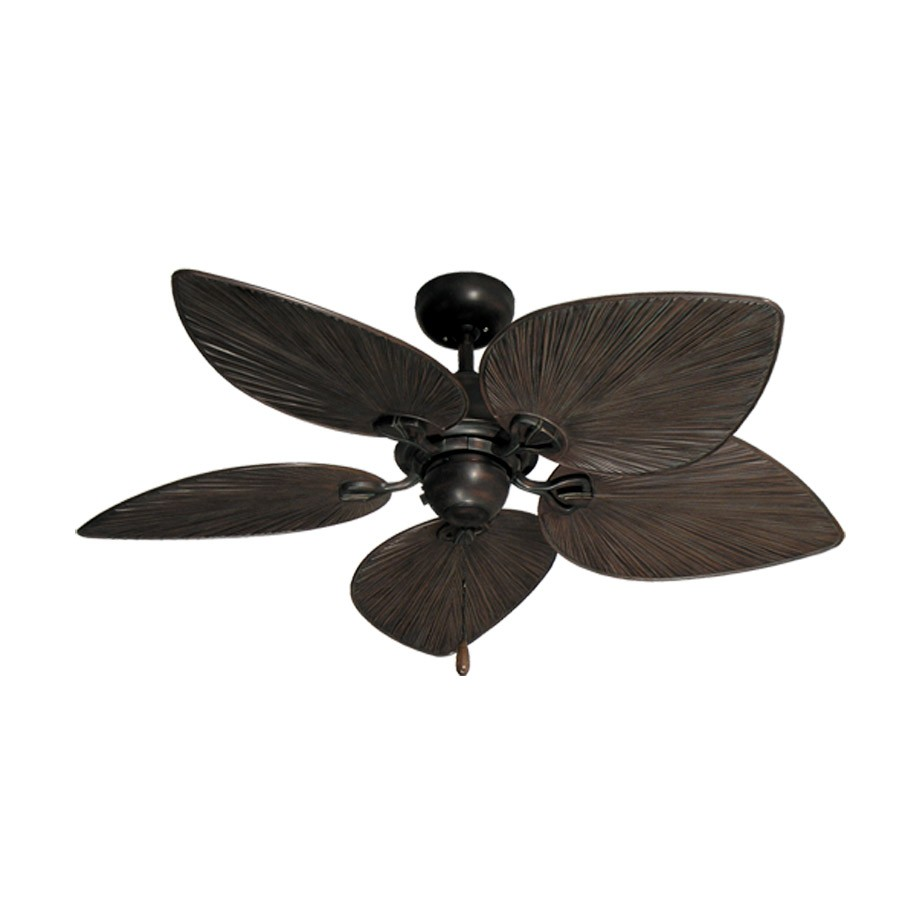 42 Inch Tropical Ceiling Fan  Small Oil Rubbed Bronze