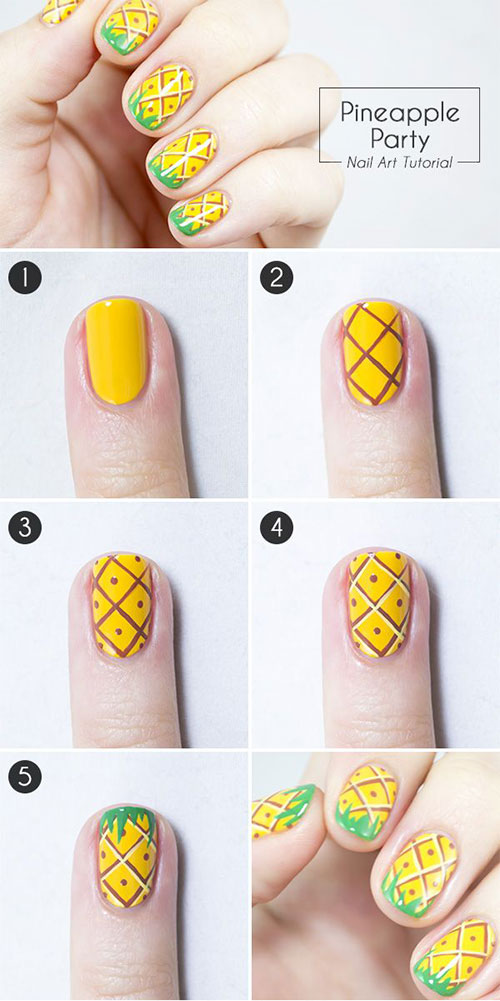 12 Easy Step By Nail Art Tutorials For Beginners