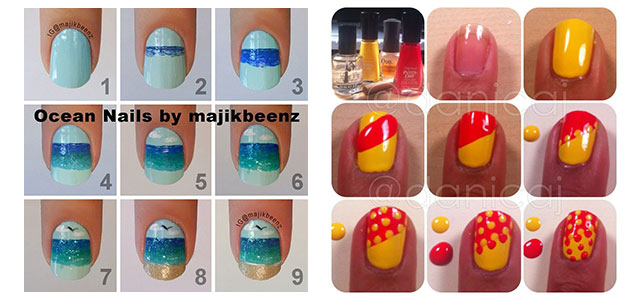 25 Easy Step By Nail Art Tutorials For Beginners Learners 2017