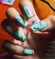 halloween zombie nail art