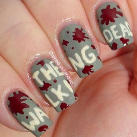 15 Best Zombie Nail Art Designs Ideas