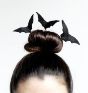 crazy & scary halloween hairstyle