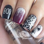 simple & scary halloween nail