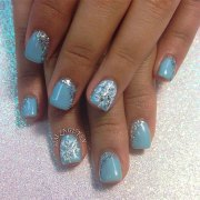 simple winter nail art design