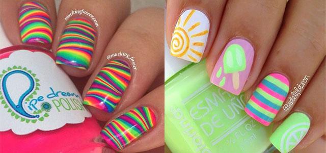 15 Bright Pretty Summer Nail Art Designs Ideas