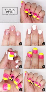 simple & easy summer nails tutorials