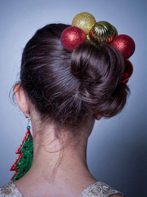 15 Creative Christmas Themed Hairstyle Ideas 2015  Xmas Tree Hairstyles  Modern Fashion Blog