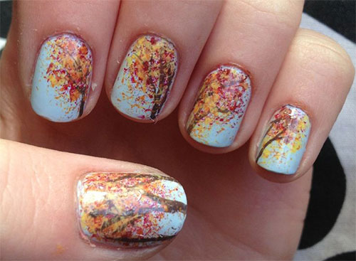 20+ Fall / Autumn Nail Art Designs, Ideas & Stickers 2015