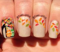 20+ Fall / Autumn Nail Art Designs, Ideas & Stickers 2015