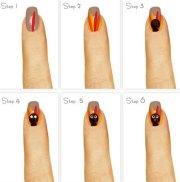simple thanksgiving nail art tutorials