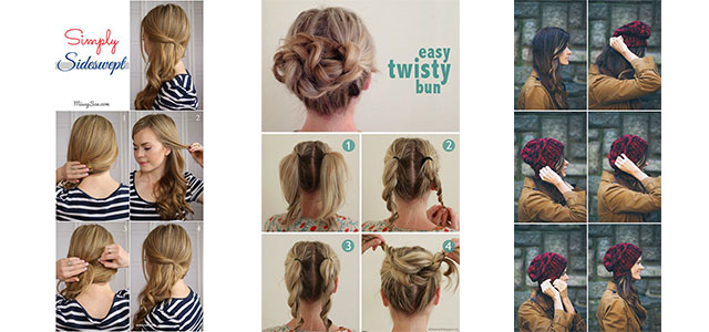 Simple Step By Step Winter Hairstyle Tutorials For Beginners