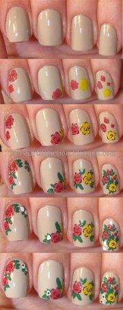 easy spring nails tutorials