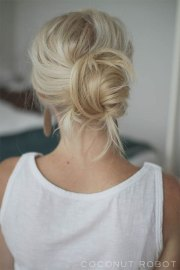 easy summer hairstyle bun 2016