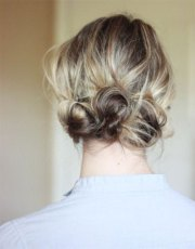 summer hairstyle updo girls