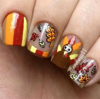 20+ Thanksgiving Nail Art Designs & Ideas 2016