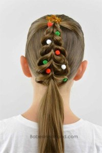 15+ Simple Christmas Themed Hairstyle Ideas For Short ...