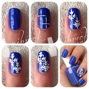 easy & simple winter nails