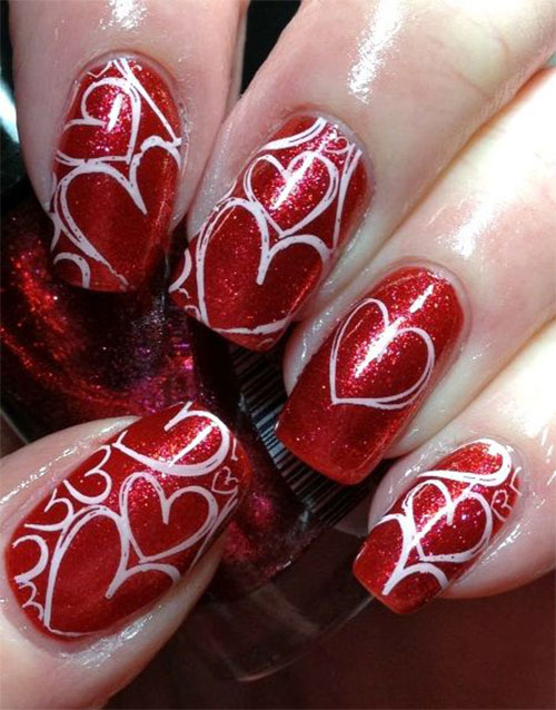 25+ Best Valentine's Day Nail Art Designs & Ideas