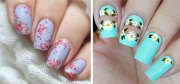 floral nail art design & ideas