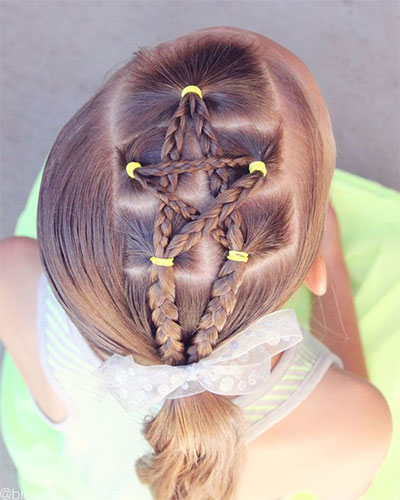 10 Inspiring 4th of July Hairstyle Looks  Ideas For Kids  Girls 2017  Modern Fashion Blog
