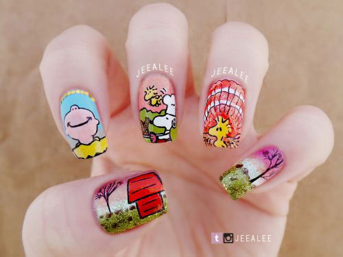 18 Best Thanksgiving Nails Art Designs Ideas 2017