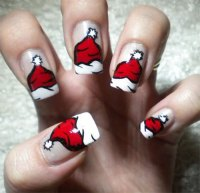 18 Christmas Santa Nail Art Designs & Ideas 2017 | Xmas ...