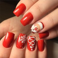 18 Christmas Santa Nail Art Designs & Ideas 2017