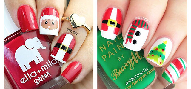 18 Christmas Santa Nail Art Designs Ideas 2017