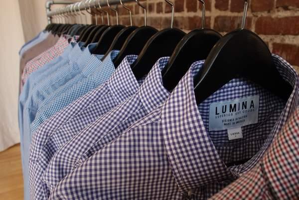 Lumina Clothing shirts close up