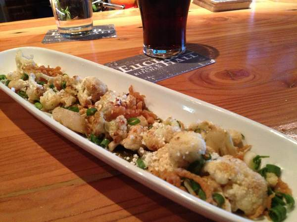 Roasted Cauliflower Salad at Euclid Hall Denver