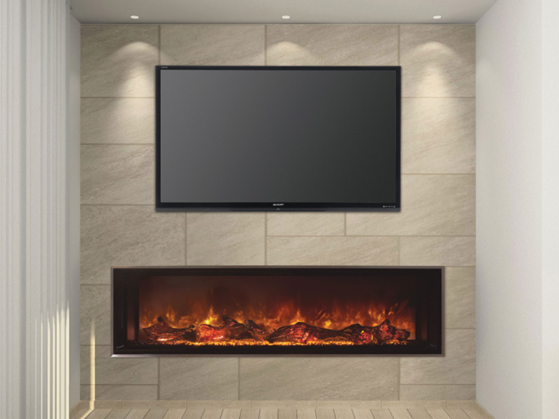 Fireplace Electric Wall Mount Landscape Fullview 60 - Modern Flames
